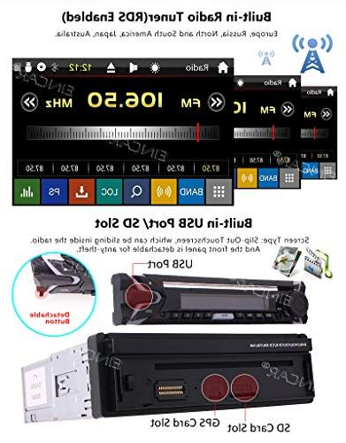 Single 1 DVD Player In GPS Stereo AM FM Support Detachable Bluetooth Audio/Video SWC Free Backup Map Card