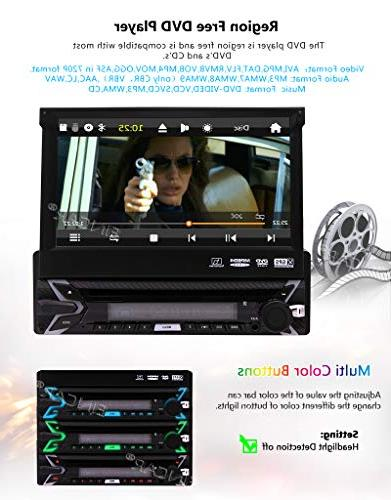 Single Car DVD In GPS Navigation Car Stereo AM FM Receiver Audio/Video Free Wireles Remote Backup