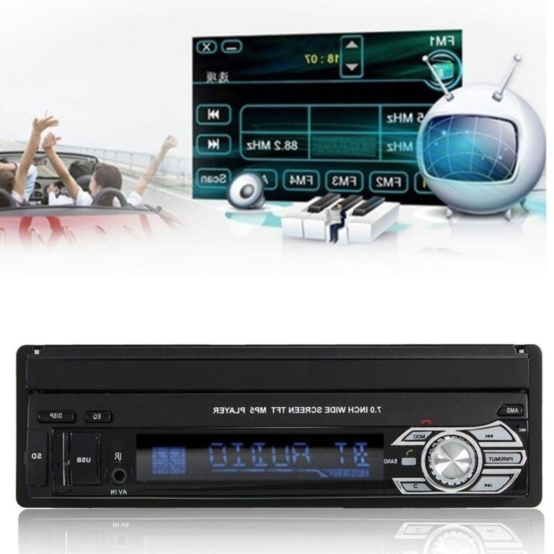 "Single 1Din 7"" Car Stereo Touch Screen BT SD"
