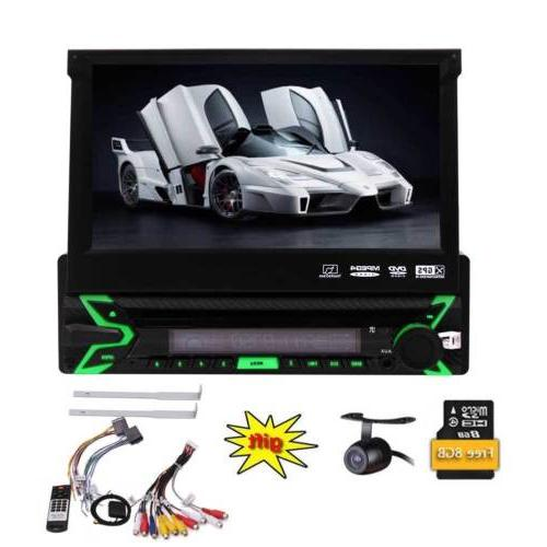 "Single 1DIN 7"" Car Stereo DVD Player Camera"