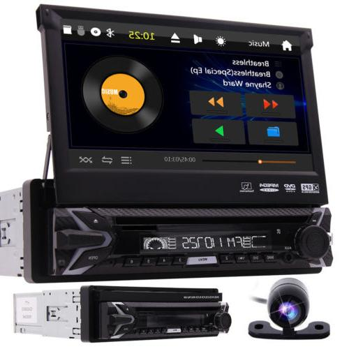 Single 1DIN Flip-Out Car DVD Player GPS/USB/Bluetooth Radio