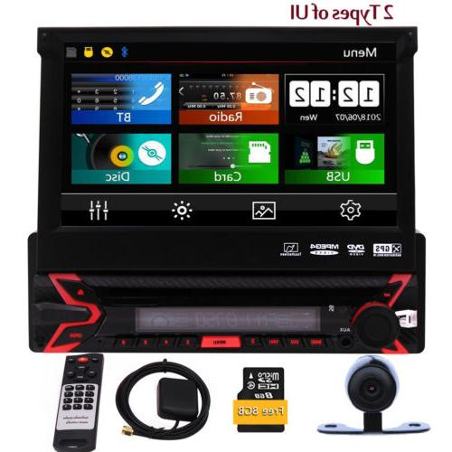 Single 1DIN Car Stereo Player Camera