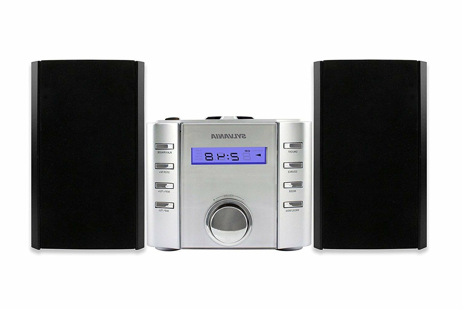 Sylvania SRCD804BT CD Micro system with Radio and Bluetooth