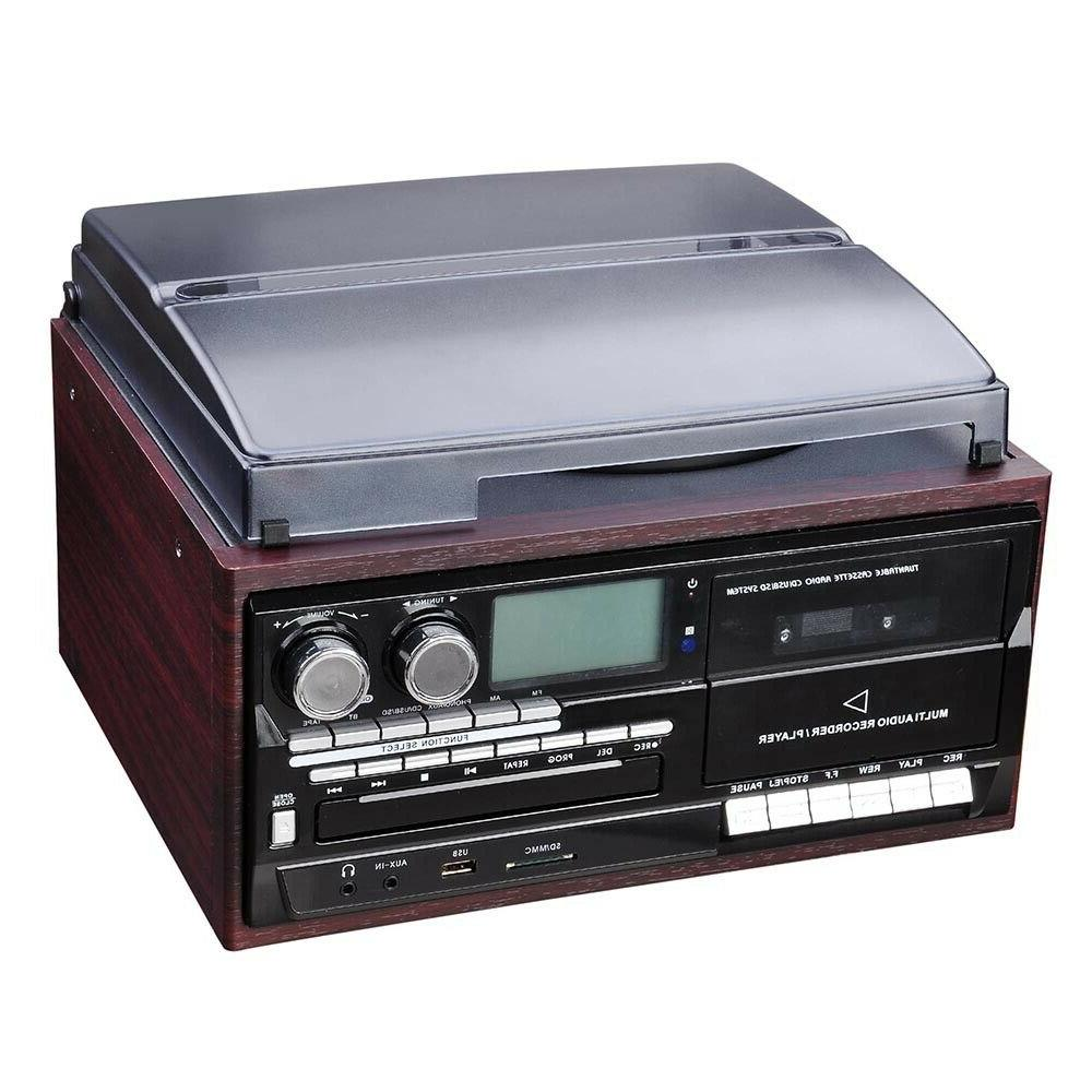Stereo Player with Speakers Remote control LCD