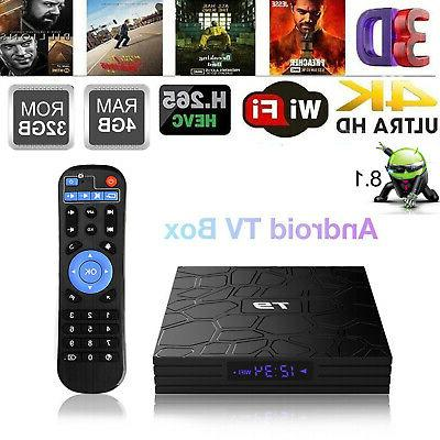 T9 Android 8.1 TV Box RK3328 Quad Core 4GB/32GB 4K H.265 WiF