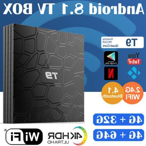 T9 Bluetooth Android 8.1 Smart TV Box Rockchip 4GB 32GB 4K M