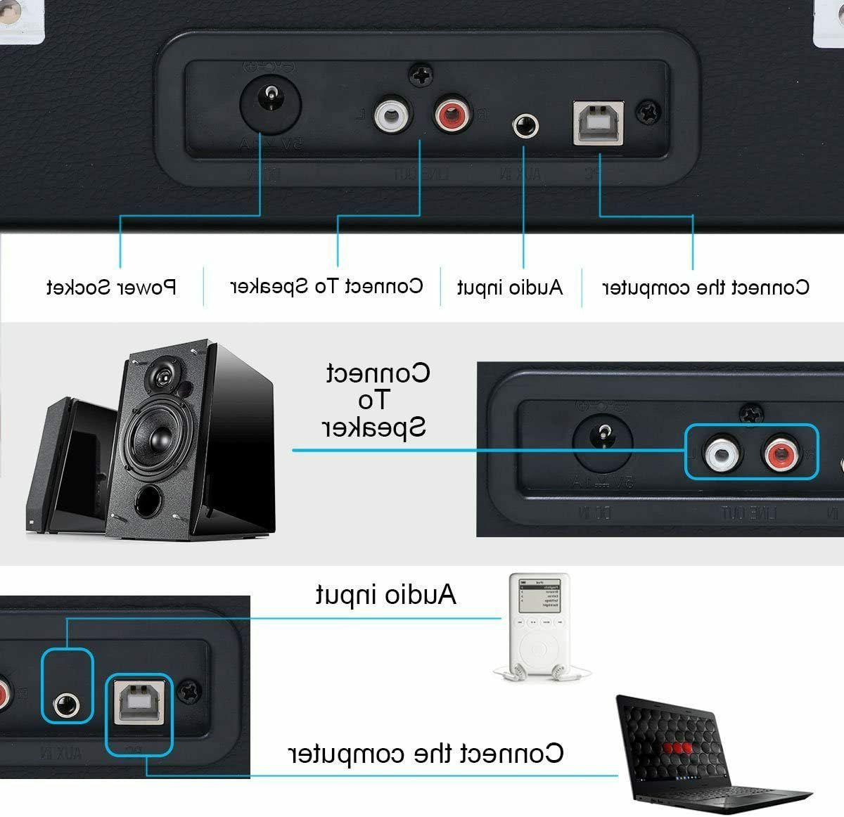Jorlai Portable Suitcase Built-in Speakers