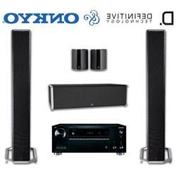 Onkyo TX-RZ710 Receiver Bundle with Definitive Technology BP