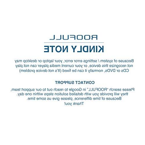 ROOFULL External DVD USB RW Drive/Writer/Rewriter/Burner Optical Player, Compatible Windows 10 Laptop Dell LG