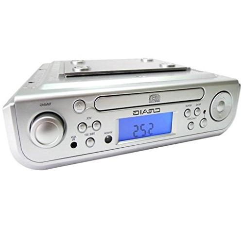 Craig Under Cabinet CD Player with AM/FM Radio, Alarm Clock,