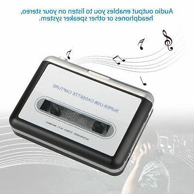 USB Cassette PC MP3 File Music Player