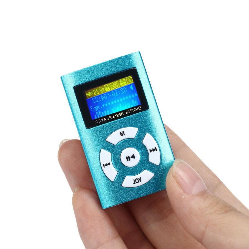 USB Mini LCD Screen Micro SD TF Blue