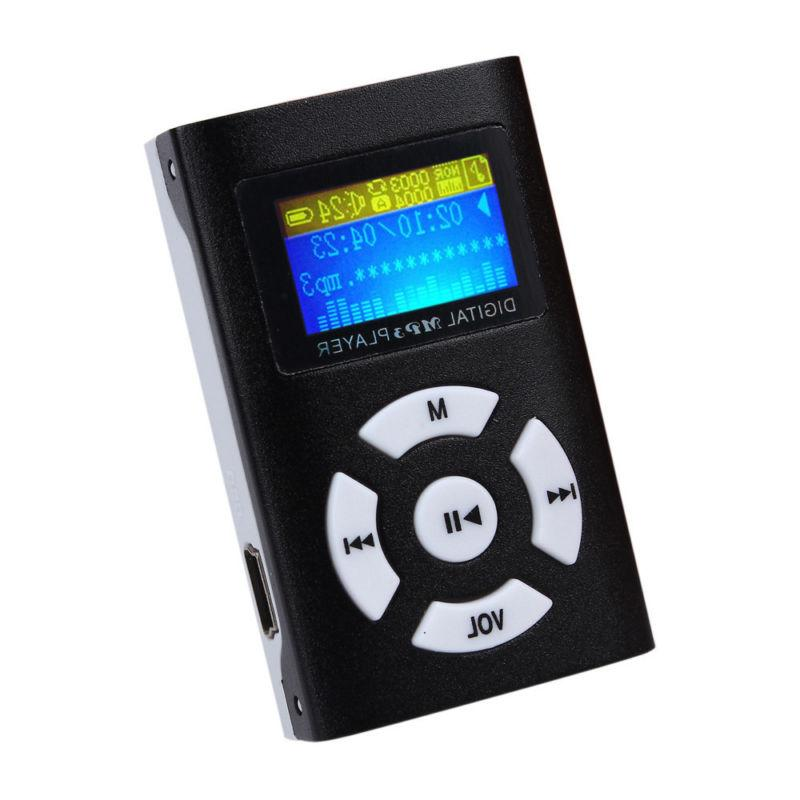 USB MP3 Player Mini Metal LCD Screen 32GB Micro SD Card US