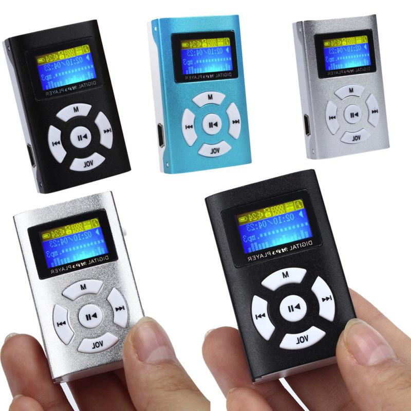 usb mp3 player mini metal lcd screen