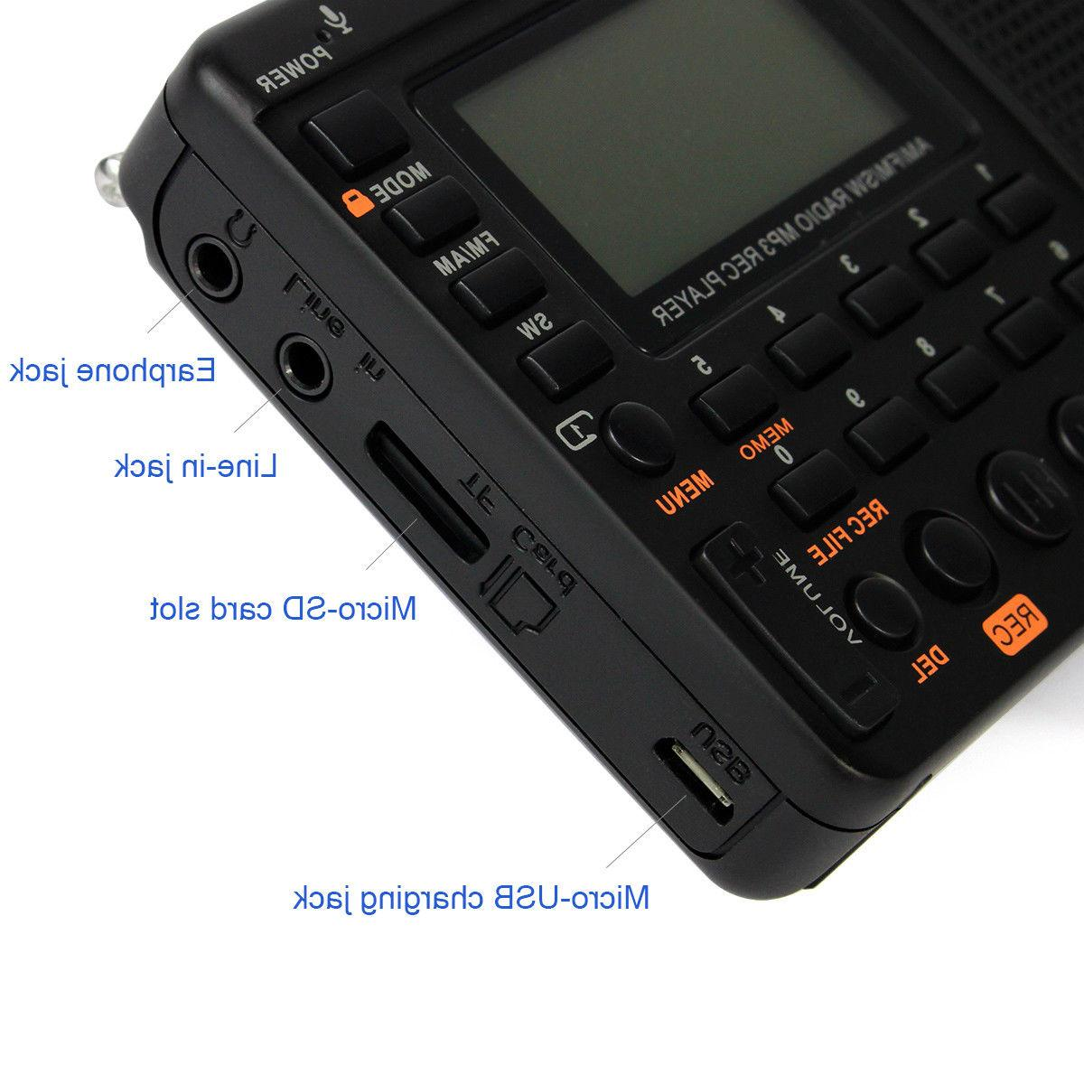 RETEKESS FM/AM Radio REC Sleep Timer Player US