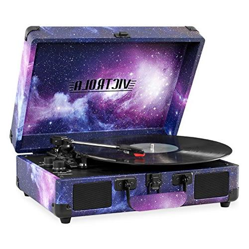 Victrola Vintage Suitcase Turntable with Limited Galaxy Edition