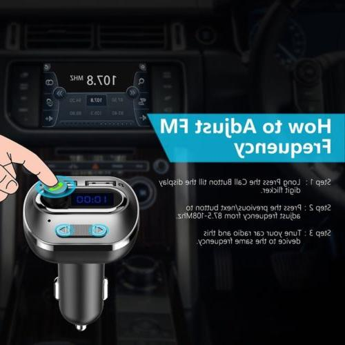VICTSING Car Wireless In-Car Bluetooth Radio