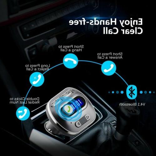 VICTSING HandsFree In-Car FM Radio Adapter US