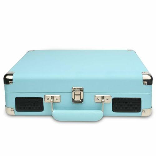 Vintage Vinyl Record Player-Suitcase Speakers USB/RCA