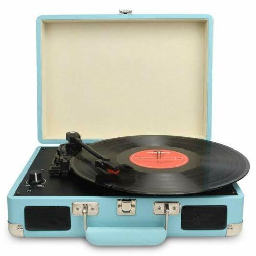 Vintage Turntable Vinyl Speakers USB/RCA