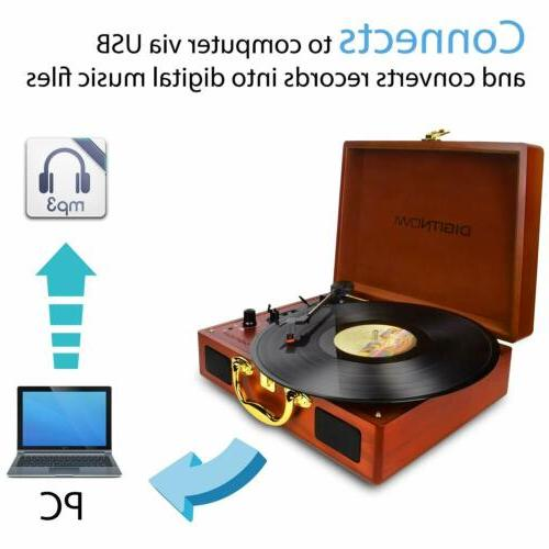Vinyl/LP Turntable Player with Wooden Turntable