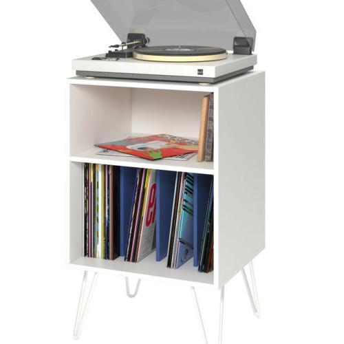 VINYL Stand LP Turntable Retro Table Shelves