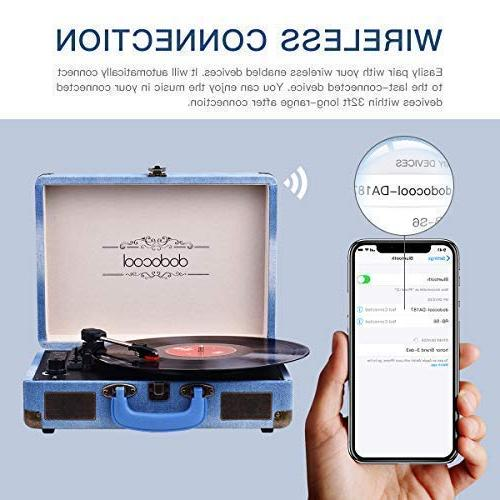 dodocool Record with Built Stereo Speakers, Vinyl MP3 Converting/ Line Out/ AUX Input, Style