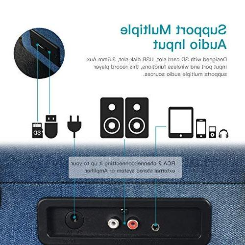 dodocool Vinyl Vintage Bluetooth with in 2 Out/ Input,