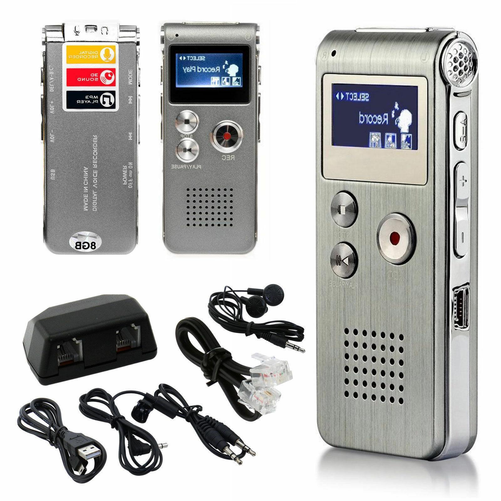 Voice Activated Mini 8GB Digital Sound Recorder