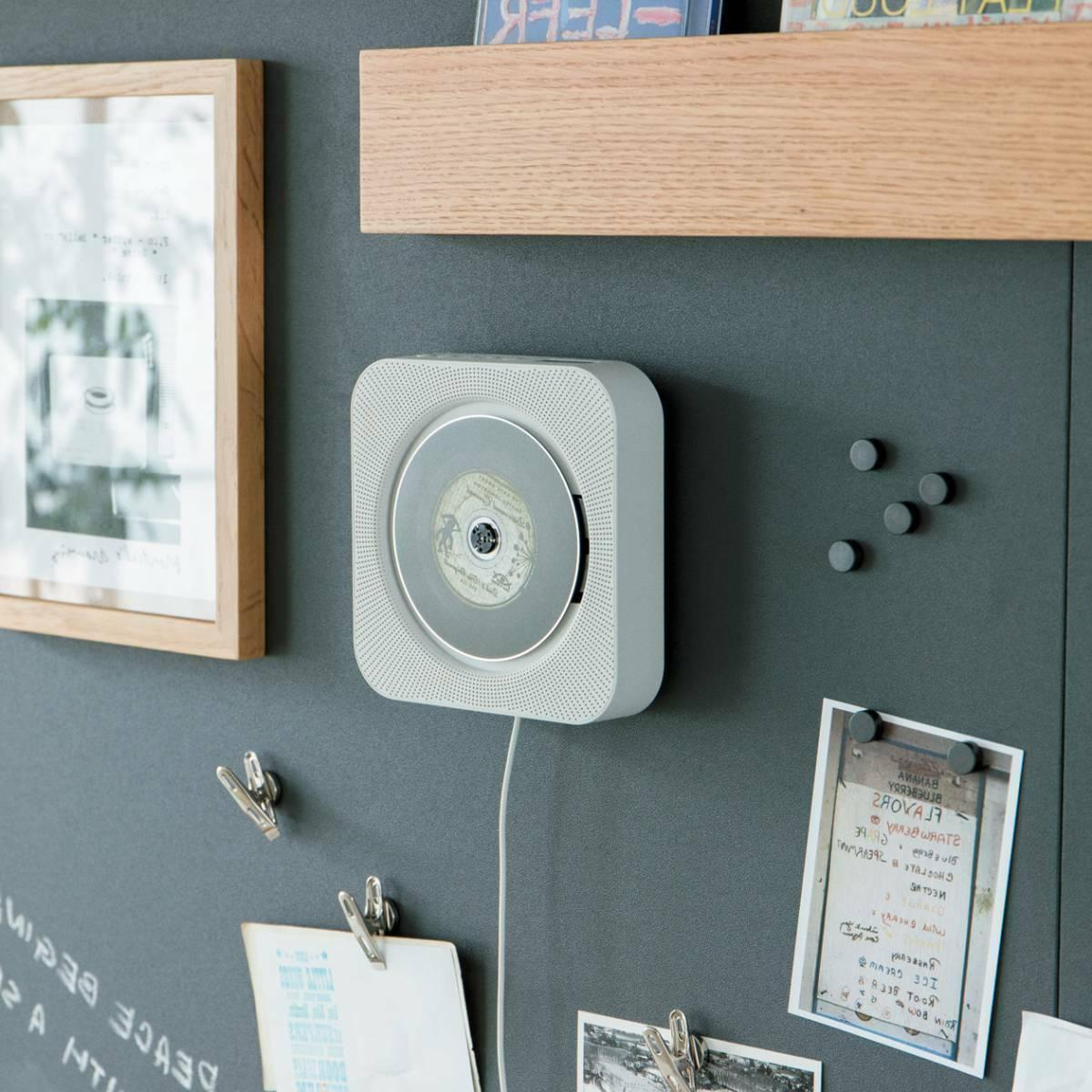 wall mounted cd player with fm radio