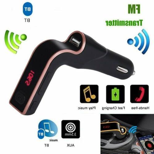 Wireless Bluetooth Car Kit AUX Radio USB Port