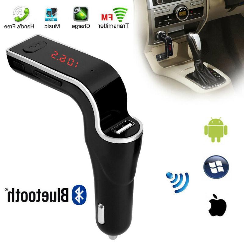 Wireless Bluetooth FM Transmitter Car AUX USB Port