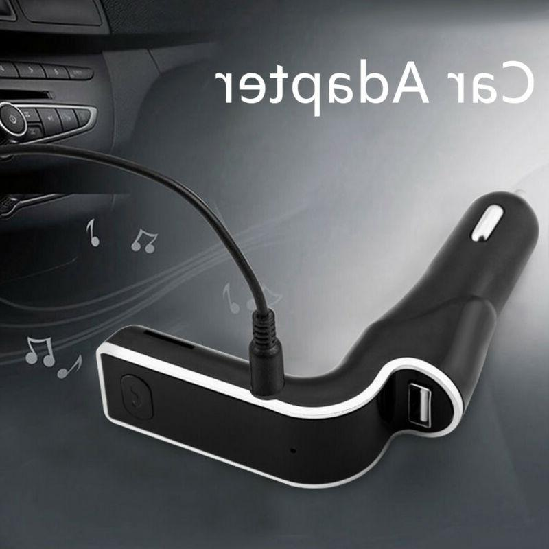 Wireless Bluetooth Transmitter Car Kit AUX USB Charging Port