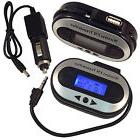 Wireless FM Transmitter Stereo for 3.5mm Jack Plug iPod, iPh