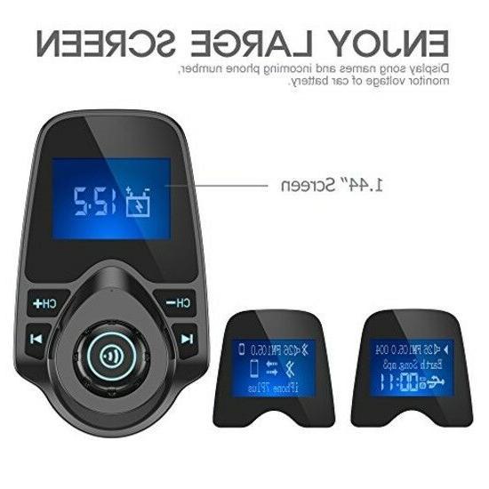 Nulaxy Wireless FM Transmitter Car