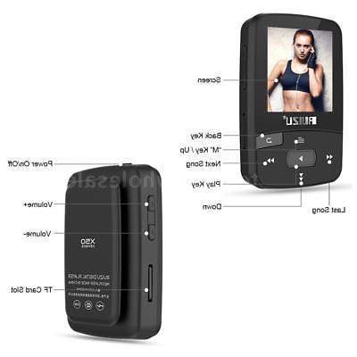 RUIZU 8GB MP3 MP4 Music Player Lossless Sound BT Pedometer FM TF
