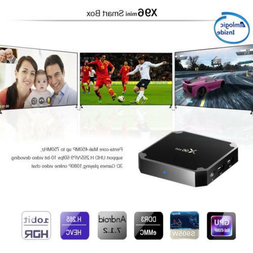 X96 1+8GB S905W Smart BOX 7.1 4K HD Media Player