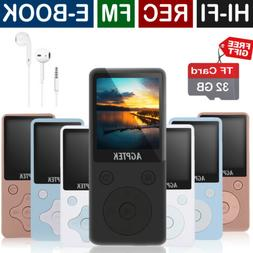 AGPtEK Latest Version 32GB 100+ Hours Playback MP3 Lossless