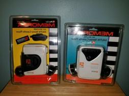 Lot of 2 Memorex AM FM Cassette Player With Headphones Pro S