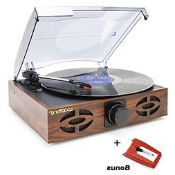 LoopTone 3 Speed Classic Vintage Style Vinyl Record Player w