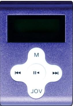 Mach Speed 2 GB Eclipse MP3 Player with Display, Clip-On Sty