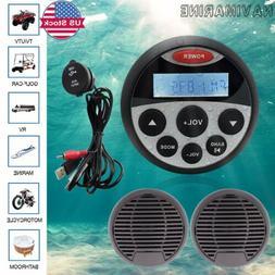 Marine AM FM Radio Waterproof ATV UTV Mp3 Player Bluetooth A