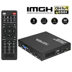 Media Player, 2 HDMI Ports 1080P Full-HD Portable Digital Pl