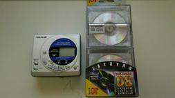 Memorex Recordable MiniDisc 10 Pack & Sharp MD-MT15 Mini Dis