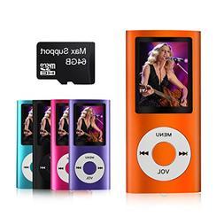 MYMAHDI Metal Clip Digital MP3 Player FM Radio LCD Screen Su
