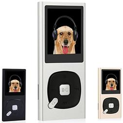 FecPecu Metal MP3 Player, 8GB Music Player Hi-Fi Sound 60 Ho