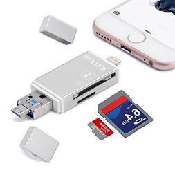 KALENI SD Card Reader, 3 in 1 USB Flash Drive with Lightning
