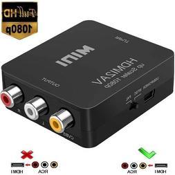 AGPtek Mini 1080P HDMI to RCA Audio Video AV CVBS Adapter Co