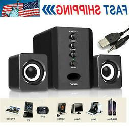 Mini Computer Speakers USB Desktop PC Laptop Audio Player Sy