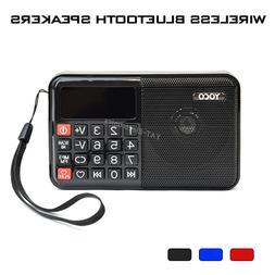 Mini FM Radio Bluetooth Portable Speaker MP3 TF Card USB Mus